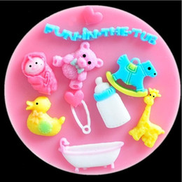 $enCountryForm.capitalKeyWord Canada - nursing bottle horse deer bear baby silicone mold soap fondant molds sugar craft tools chocolate mould moulds for cakes TY1902