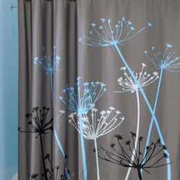 $enCountryForm.capitalKeyWord Canada - Hot Sale Dandelion Pattern 3D Waterproof Polyester Shower Curtain with 12 Plastic Hooks curtains for bath and shower E5M1 order<$18no track