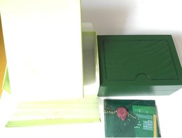 China Free Shipping Green Brand Watch Original Box Papers Card Purse Gift Boxes Handbag 185mm*134mm*84mm For 116610 116660 116710 Watches cheap steel purse suppliers