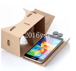 vente en gros 500pcs nouveau bricolage Google carton Valence qualité 3D Vr lunettes de réalité virtuelle sans NFC version mise à jour avec l'impression en Solde