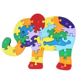 $enCountryForm.capitalKeyWord UK - Wooden Elphant Educational Toys 26 Letters Jigsaw Puzzle ABC Letter Animals Colorful Puzzles Gift for Boys Girls 3 Years Old and Up