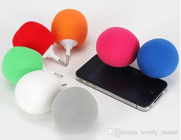 Wholesale 3 mm loudspeaker mini sponge ball speakers Samsung apple small balloon big sound mobile phones for smart phone computer ipad