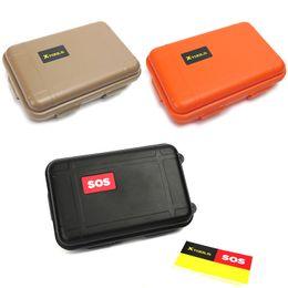 17 * 10.5 * 5 cm Al aire libre a prueba de golpes a prueba de agua de supervivencia hermética Caja de almacenamiento de contenedores EDC Camping viaje plástico llevar caja