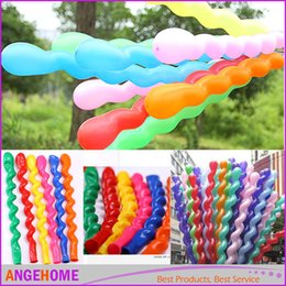 $enCountryForm.capitalKeyWord Australia - 2016 Wholesale 100pcs pack Screwed Latex Twisting Spiral Balloons Conventional Festival Balloons Wedding Party & Holiday Decoration