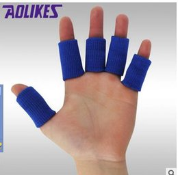 Discount safety care - Pcs Elastic Finger Sleeves Basketball Sports Safety Thumb Brace Protector For Volleyball Badminton Fitness Gym Health Ca