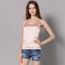 Silk Camisole Women Canada - 2016 Silk Crop top Vest Camisole Sling Soie  Gilet Sling Women c3877ca6a