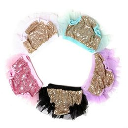 Motifs De Tutu De Filles Pas Cher-Ruffle Baby Sequins Tutu Bloomer, Baby Girls shorties, Nouveau-né, Chiffon Ruffle Diaper Cover, Sequins Pattern Girls Bloomer