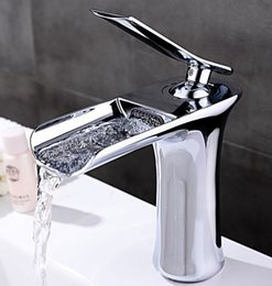 Chrome Levers NZ - copper chrome bathroom New Arrival chrome finish Design basin Brass Single Hole Single Lever Bathroom Waterfall Faucet Mixer waterTaps BF100