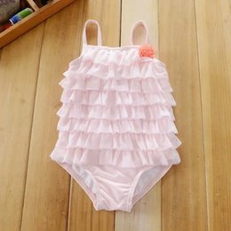 Bañador Niños Tutú Baratos-3-6 M Infant Girls One Pieces Baby Kids Princesa Swim Wear Girl Tutu traje de baño de encaje Beach Wear traje de baño para niños