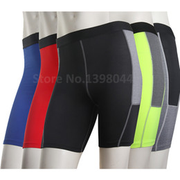 Court-métrage Cycliste Pas Cher-Wholesale-Men Base Layer Cycle Tight Short Pants Compression de la peau Sports Running Outdoor Basketball Soccer Fitting Exercise Shorts Boxer