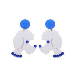 Discount asian dolls - DIY cute poodle doll Earrings