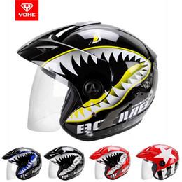 Toptan satış YOHE Yarım Yüz motosiklet kask elektrikli bisiklet motosiklet kaskları ABS YH-887A boyutu S M L XL XXL 10 renkler