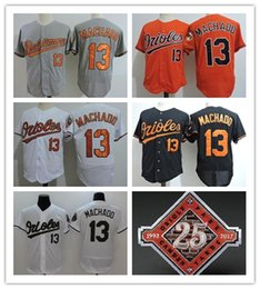 92b4ee239 ... Top quality Mens Baltimore Orioles 13 Manny Machado White Stitched MLB  orange black Flex Base name Majestic ...