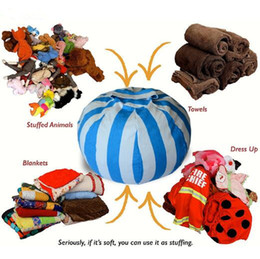 $enCountryForm.capitalKeyWord Australia - 3 Colors 55cm Kids Storage Bean Bags Plush Toys Beanbag Chair Bedroom Stuffed Animal Room Mats Portable Clothes Storage Bag CCA7873 20pcs