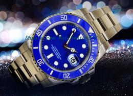 $enCountryForm.capitalKeyWord Canada - LUXURY WATCH Stainless Steel Bracelet AUTHENTIC RARE BLUE CERAMIC BEZEL GOLD WATCH 116619 40MM MAN WATCH Wristwatch