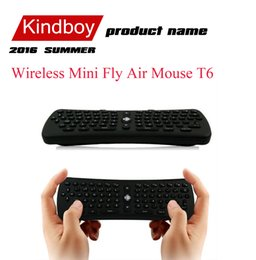 android remote keyboard NZ - 2.4GHz Wireless Mini Fly Air Mouse T6 Gyroscope Qwerty Keyboard Remote Control for Android TV Box Mini PC M8 MXQ CS918 MXIII