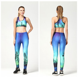 Mode De Combinaison Étanche Pas Cher-Women Yoga Set Europe Slim Tracksuit Quick Dry Fitness Sportwear Bodybuilding Tight Jumpsuit 3D Print Track Wear Mode Elasticset LNSTZ