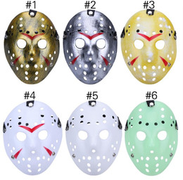 China 2018 Halloween Mask Archaistic Jason Masks Horror Full Mask for Costume Party Cosplay Antique Killer Mask Jason Hockey Masks in Stock suppliers