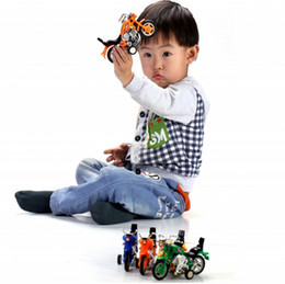 wholesale pull back toys Australia - 2018 Limited New 5-7 Years Motorcycle & Bicycle Plastic Miniature Kingdom Death Brinquedos Diy Toy Car Fancy Motorcycle for Creative Force