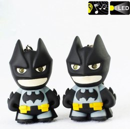 batman pendants Australia - New cool batman emitting keychain film surrounding the creative voice LED pendant Car keychain free shipping