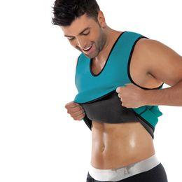 9a5ed51b96 Wholesale-Men Sport Shapers Weight Loss Corset Tummy Slimming Spandex Waist  Cincher Waist Training Body Shaper Vest Corset mens bodysuit