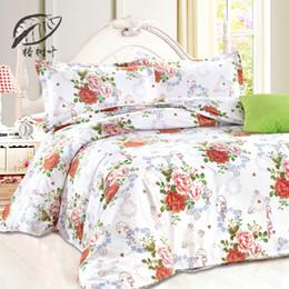 new best price flowers floral printed comforter plain bedlinen cozy cotton bedding sets 4pcs simple and elegant bed sheets