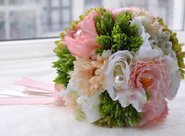 sweet love wedding bridal bouquet wedding hand made bulk flower flowers wedding supplies bride holding brooch bouquet 2016