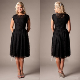 Vintage black tea length dress