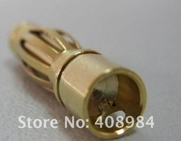 Wholesale Bullet Connectors Canada - 1000 pair  lot by dhl fedex 4.0mm 4 mm banana connector plug gold bullet connector for rc battery