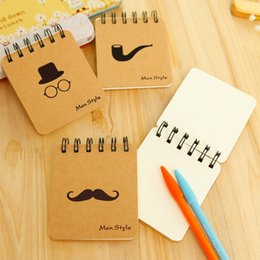 pocket record 2019 - Hot Sale Mustache Coil Notebook Creative Stationery Notepad Portable Gentleman Eco-friendly Pocket Memo Free DHL E667L