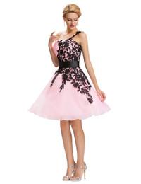 03c63aaa3 2019 Sexy prom vestidos de noche rojo corto uno shourlder bordado vestido  de bola Grace Karin vestidos formales de gala abendkleider por encargo