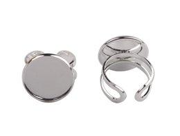 $enCountryForm.capitalKeyWord Canada - 10 PCS Silver Plate 20mm Cabochon Settings Base Rings #92523