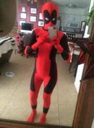 $enCountryForm.capitalKeyWord Canada - Deadpool Costume Halloween Cosplay Red and Black Spandex Full Body Superhero Cosplay Carnival Zentai Suit