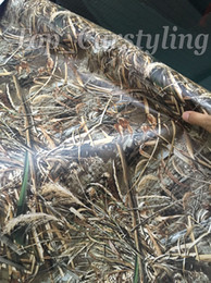 Grass Stickers NZ - Grass Camo Vinyl wrap leaf camouflage Mossy Oak Car wrap Film foil for Vehicle skin styling covering stickers 1.52x30m 5x98ft