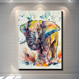 $enCountryForm.capitalKeyWord NZ - Vintage Abstract ELEPHANTS painting pictures posters print on the canvas,Animal canvas painting Home Wall art decor canvas painting poster