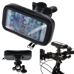 $enCountryForm.capitalKeyWord Canada - Free Shipping Universal Waterproof Motorcycle Bike Bicycle Handlebar Mount Holder Pouch Bag for iPhone 5 SE 5S 5G 5C 4 4S