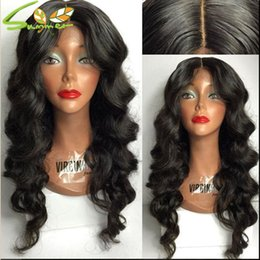 $enCountryForm.capitalKeyWord Canada - Best 9A Mongolian Body Wave Lace Front Human Hair Wigs 180 Density Thick Long Real Human Hair Full Lace Wig With Baby Hair