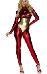 $enCountryForm.capitalKeyWord Canada - Shiny Metallic Spider-Woman Superhero Costume halloween cosplay spider girl suit Spider Woman Female Girl Woman Zentai Catsuit