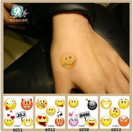 $enCountryForm.capitalKeyWord Australia - 6*6cm Temporary fake tattoos Waterproof tattoo stickers body art Painting for party decoration etc mixed cartoon face design