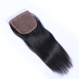 Tangled Lights UK - 7A Quality Malaysian 4*4 Straight Hair Lace closure 100% Unprocessed Human Hair No Shedding Free Tangle Full And Thick Free Shipping Fee DHL