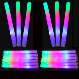 concert light rod UK - LED Colorful rods led foam stick flashing foam stick, light cheering glow foam stick concert Light sticks EMS C1325