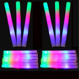 LED Tiges colorées led mousse bâton clignotant bâton de mousse, lumière acclamant lueur bâton de mousse concert Lumière bâtons EMS C1325