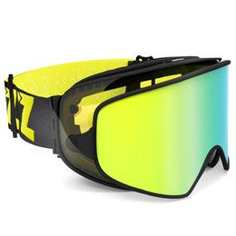 eba4a00ea0d COPOZZ 2 in 1 Ski Goggles with Quick-change Magnetic Dual-use Lens Anti-fog  UV400 Night Skiing Snowboard Goggles for Men