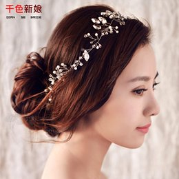 $enCountryForm.capitalKeyWord NZ - Women headband handmade hair ornaments pearl jewelry marriage crystal decoration Festival Gifts wedding party accessories milu