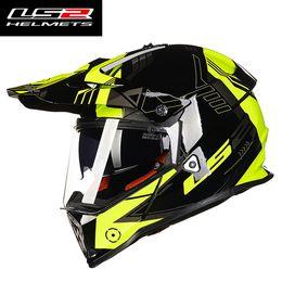 Discount helmet ls2 motocross - 2016 New LS2 double lens off road motorcycle helmet MX436 professional racing motocross motorbike helmets made of ABS si