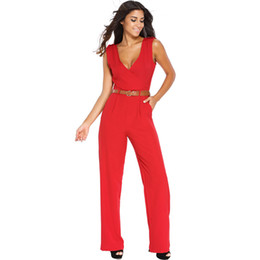 267b94eeeaf European jumpsuits rompers sleeveless for women wide leg jumpsuit sexy club  outfits V-neck jumpsuits elegant bodysuit women pants onesies