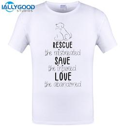 $enCountryForm.capitalKeyWord Australia - RESCUE SAVE LOVE Hand-painted Dog Design Mens T shirt Summer Short Sleeve Tshirts Hipster Men Tops Tee Cool Plus Size 6XL