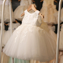 $enCountryForm.capitalKeyWord Canada - Real Lovely Tutu Ball Gown Toddler Little Baby Flower Girls Dresses With Bow Lace Tulle Birthday Wedding Party Gowns 2017