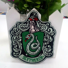 """Discount iron harry potter patch - NEW ARRIVE SNAKE HARRY POTTER """"SLYTHERIN"""" EXTRA LARGE Embroidered Robe iron on Patch for Jacket Jeans Clothing"""