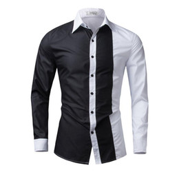 Marque Dresse En Gros Pas Cher-Wholesale- Brand New Mens Formal Business Chemises Casual Slim Long Sleeve Dresse Chemises Camisa Masculina Chemises Casual Asiatiques Big Yards M-4XL